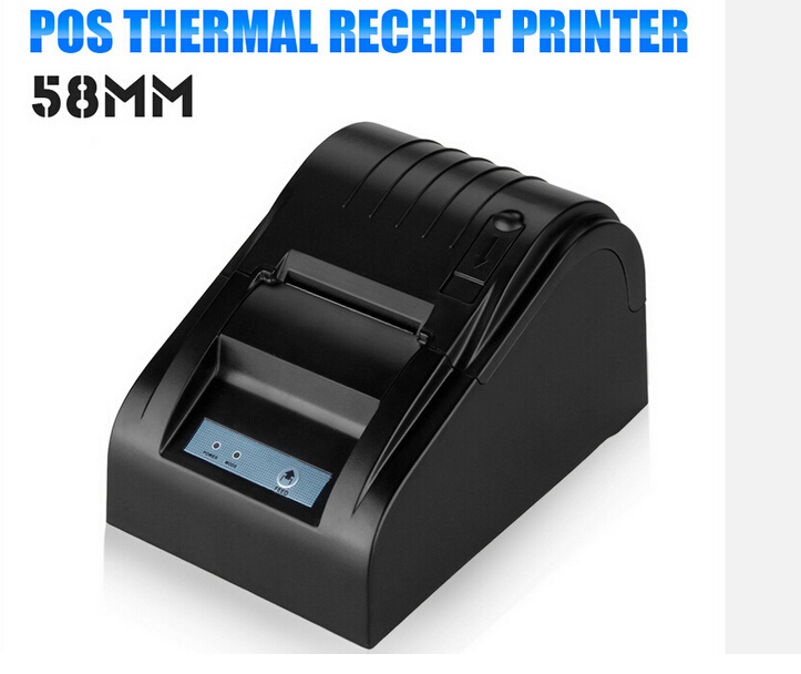 printer High quality pos printer 58mm thermal receipt Small ticket barcode printer automatic cutting machine printer printer youtube