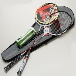 Kawasaki raquete de badminton 1u quadro da liga de alumínio raquete de badminton com corda acima-0160 com presente gratuito peteca
