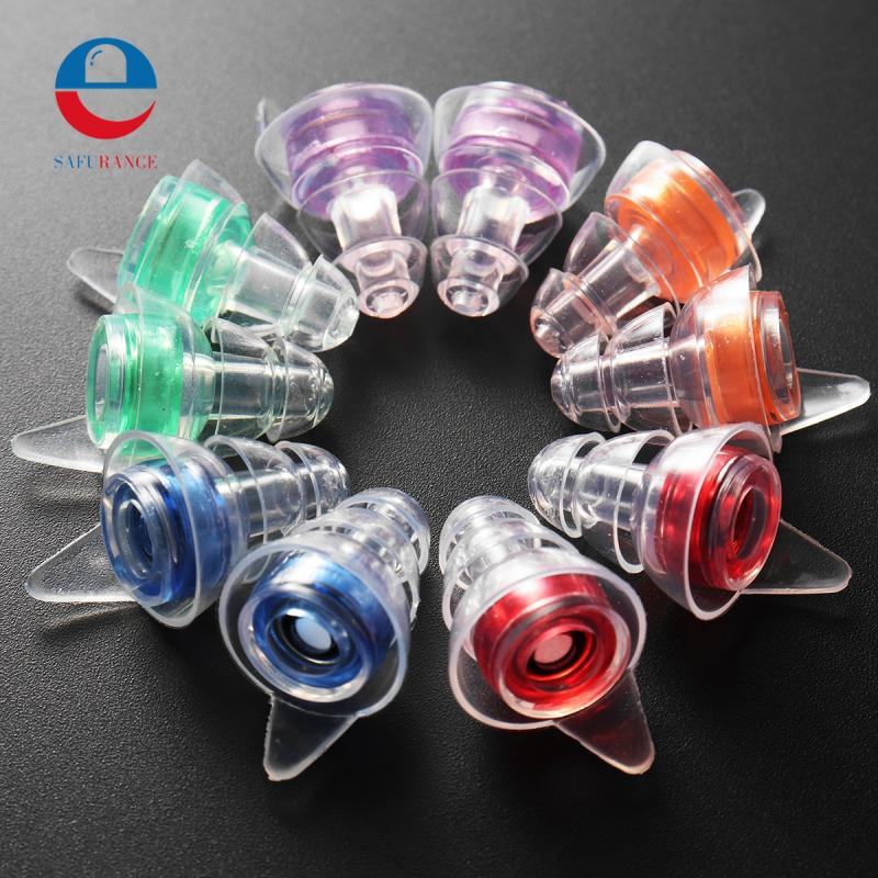 Safurance Noise Cancelling Hearing Protection Earplugs For Concerts Musician Motorcycles Reusable Silicone Ear plugs safurance 2pairs noise cancelling hearing protection earplugs for concerts musician motorcycles reusable silicone ear plugs