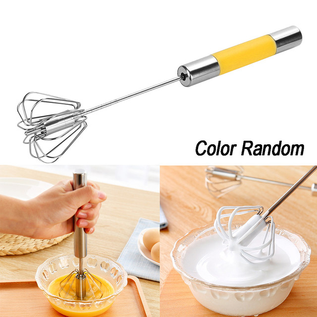 2018 New Egg Beater Hand Hold Semi Automatic Whisk Cooking Eggs Mixer Cream  Coffee Stiring
