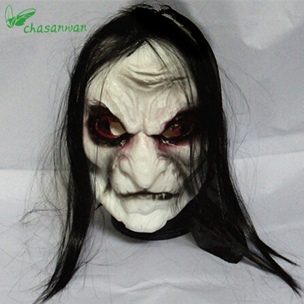 Grudge Costumes Halloween | Horror Halloween Mask Long Hair Ghost Scary Mask Props Grudge Ghost