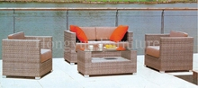 Wicker patio sofa set furniture with cushion and pillows manufacturer