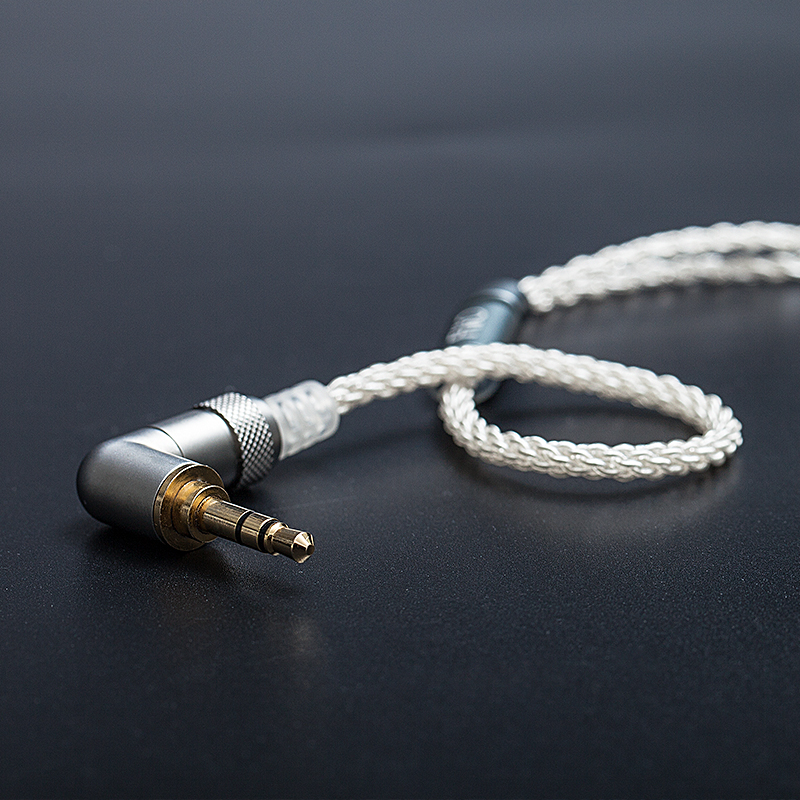FiiO LC 3 5BS Short cable High Purity Copper Plated Silver Standard MMCX 3 5mm Connector
