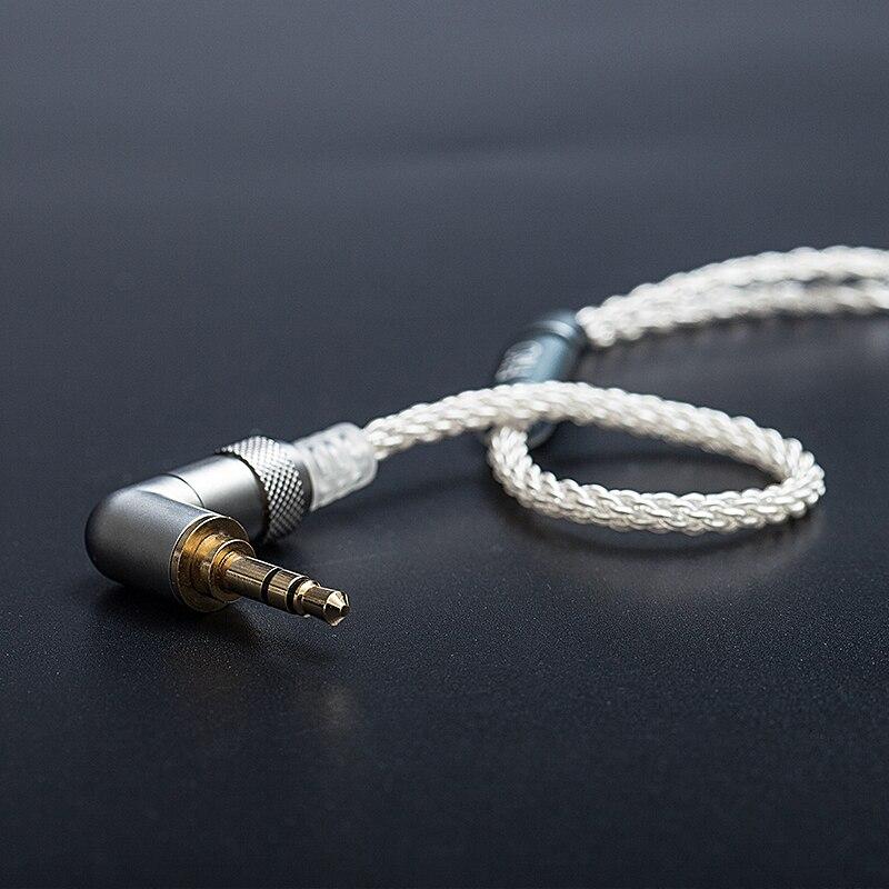 FiiO LC-3.5BS Court câble Cuivre Haute Pureté Plaqué Argent Standard MMCX 3.5mm Connecteur pour Shure/Westone /JVC/FiiO Casque