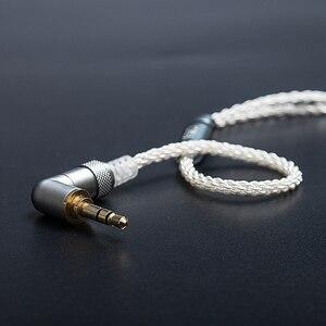 Image 2 - Fiio LC 3.5BS 2.5bs cabo curto de alta pureza cobre chapeado prata padrão mmcx 3.5mm para shure/fiio btr5/btr3/fh7/f9 fones de ouvido