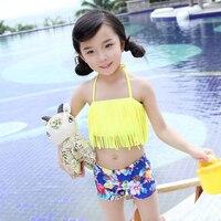 2016 Hot Sale Free Shipping Cute Swimming Clothing Beachwear Swimsuits Baby Girl Bikini Set Kids Swimwear