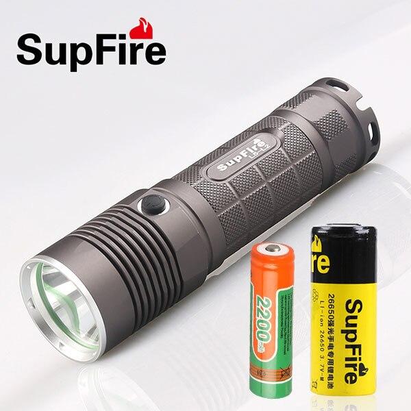 Supfire L5 CREE XM-L T6 10W Led Flashlight 1100 Lumens Led Light Torch by 18650 Battery