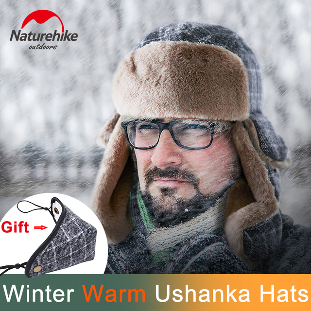 Naturehike 2018 New Winter Woolen Hat Ear Protection Warm Cap Windproof  Ushanka Trapper Hats Cold Weather Hunting Hiking Climb b7aeb6a78b1