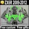 High Quality Fairings Set For Kawasaki ZX6R 2009 2010 2011 2012 Matte Black Green Fairing Kits