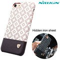 Luxury Leather Hard Plastic Case for Apple iPhone 7 iPhone7 4.7 inch Original Nillkin Brand Plaid Pattern Back Cover Skin