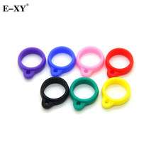 E-XY Silicone Lanyard Ring Necklace Ring For CE4 CE5 CE6 T2 T3 T3S EVOD Atomizer Silicone Necklace Ring 200pcs