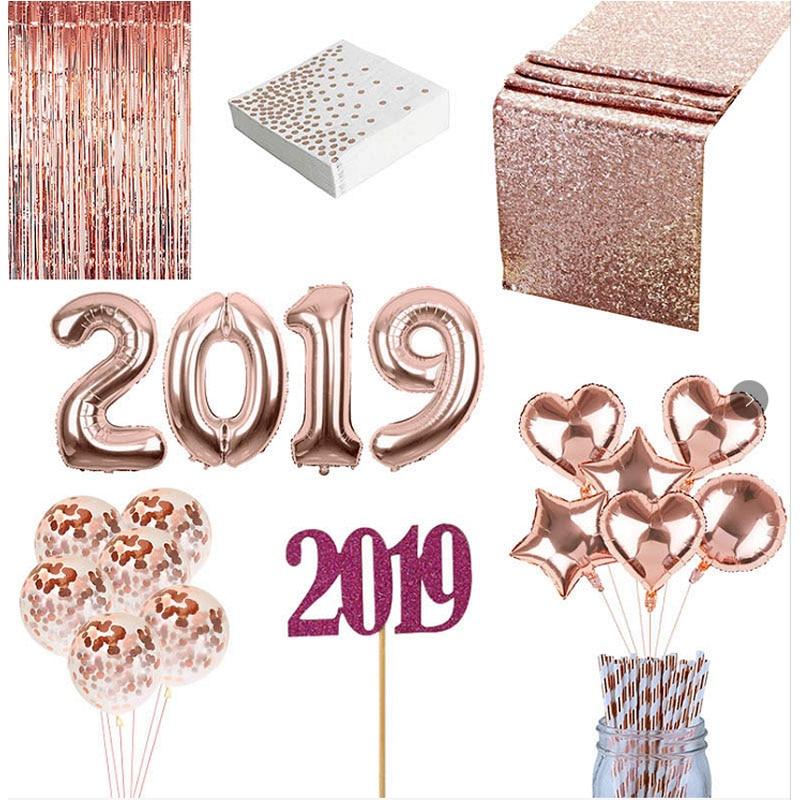 2019 Helium Balloon Party Decoration Aluminum Foil Rain