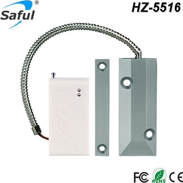 Saful Hot sale 433 MHz Reed pipe magnetic control Wireless Roller Shutter Door Gap Sensor Detector Just For gsm Alarm System wireless vibration break breakage glass sensor detector 433mhz for alarm system