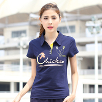 Small Horse Polo 2017 Summer New Women S Printed Cotton Short Sleeved Tshirt Woman Personality Cock