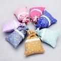 50pcs/lot White Starts Lace Cotton Linen Gift Drawstring Bags 10x14cm Jewelry Neckalce Wedding Gift Favor Holders  H0246