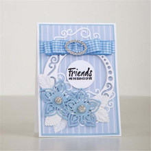 Naifumodo Die Cutting Circle Lace Edge Frame Dies Metal Flower for Scrapbooking Card Making Craft Cut