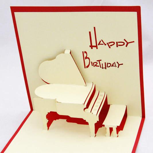 Placeholder Qubiclife 3D Stereo Piano Card Creative Birthday Original Korean Custom Stencil
