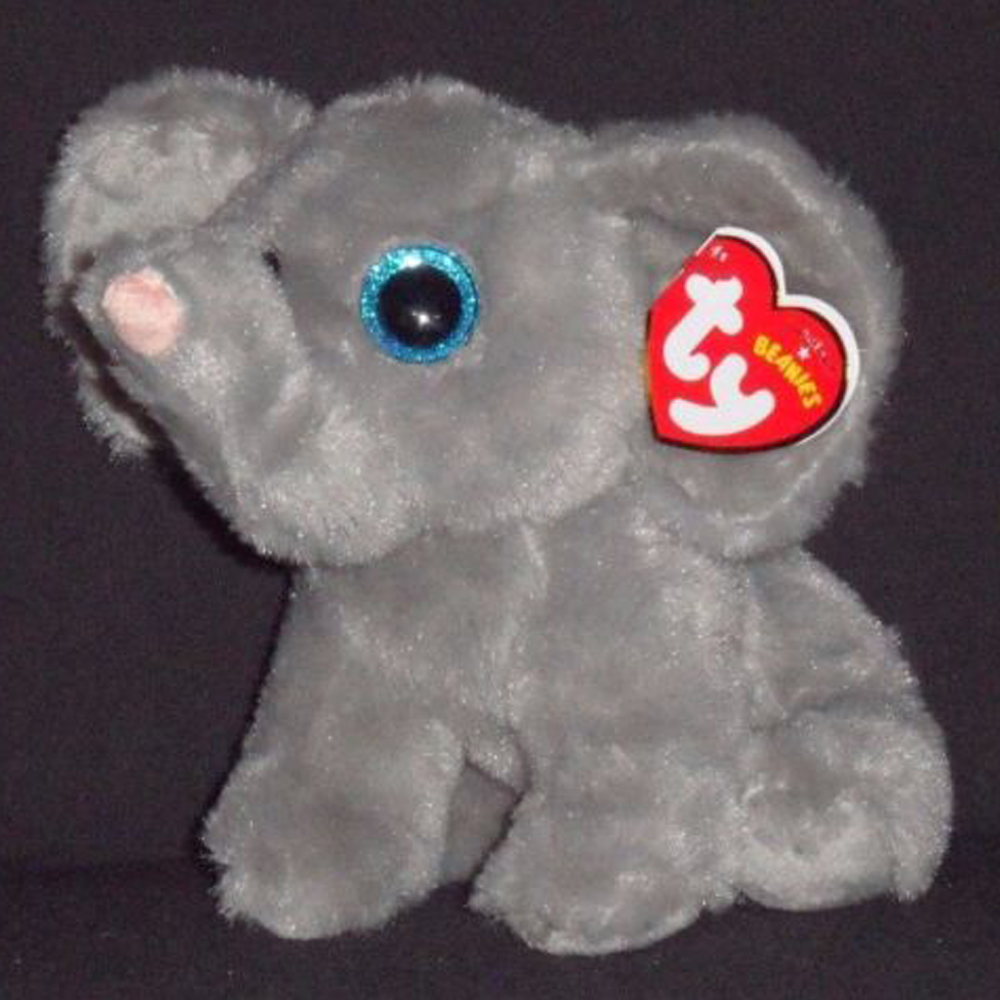 Pyoopeo Ty Beanie Babies 6 15cm Whopper The Grey Elephant Plush
