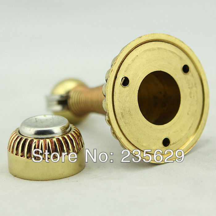 Free Shipping, Wall mounted Brass Door Stopper, suitable for interior doors, Door Holders For Sale, High suction,295g free shipping door stopper door holders for sale high suction