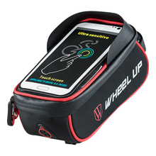 Waterproof Bicycle Bag Basket Pannier Frame Tube Handlebar Bag High Sensitive Touch Screen Double Zipper Cycling Bags