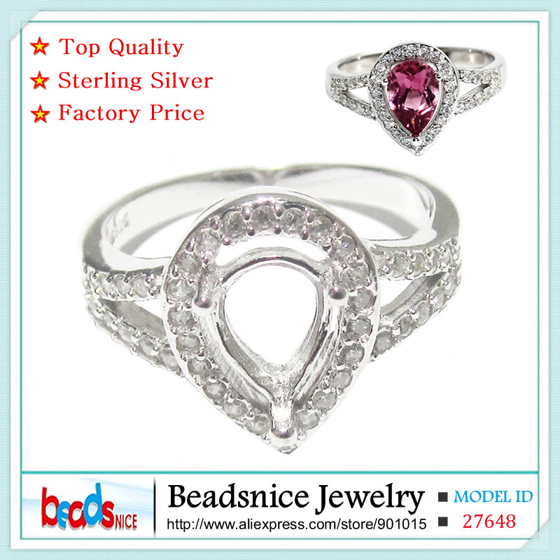 Beadsnice ID27648 diy jewelry accessories exaggerated 925 sterling silver rings semi mount ring settings wholesale