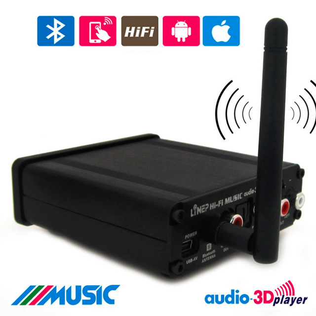 Fibra Óptica Coaxial 5.1 HiFi Amplificador Digital Bluetooth Receptor de Música Estéreo de Áudio MP3 Som Home EUA Plug Adapter Eletronic