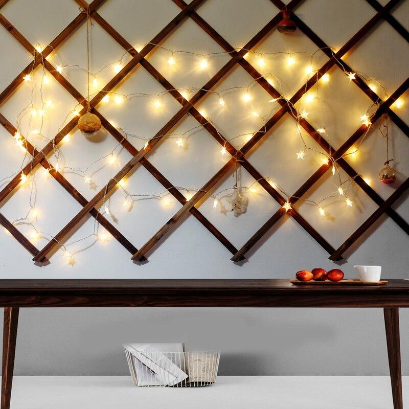 3 * AA Батарея Рождественские огни 2 м 5 м 10 м лампа в виде пятиконечной звезды праздник освещения Свадебная вечеринка украшения Шторы строки