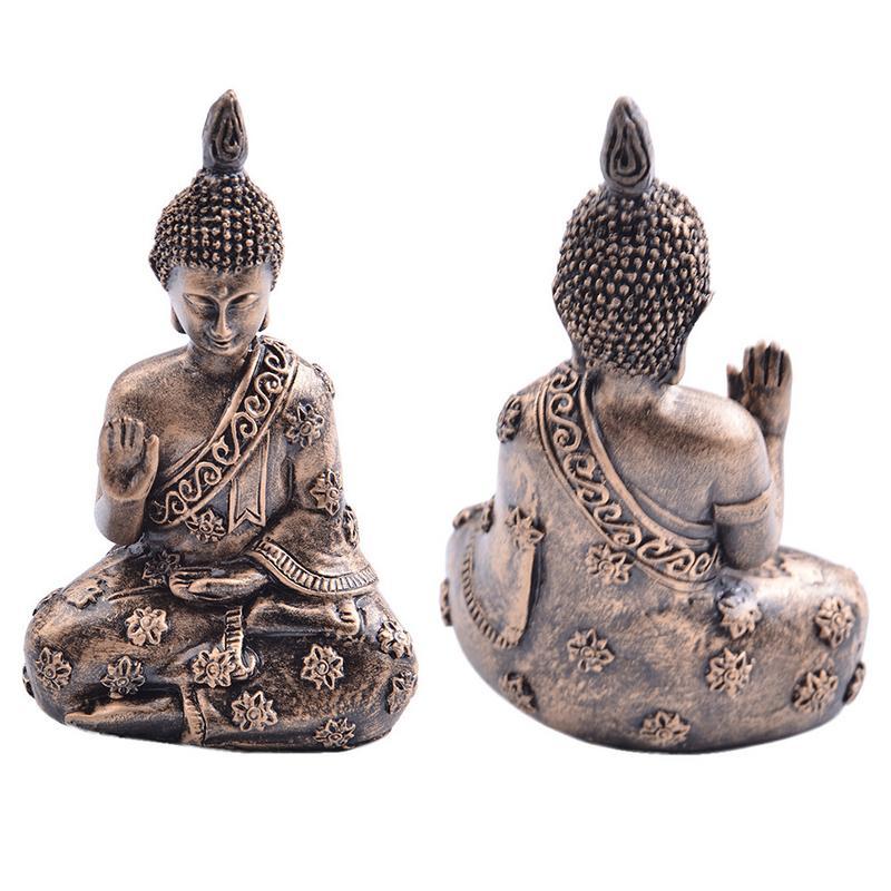 Resin Buddha Statue Resin Garden Buddha Retro Buddha Statue Meditating Buddha Statue Garden Ornament India Sakyamuni Figurine