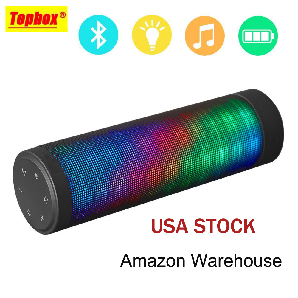 ФОТО Portable Bluetooth Speaker Altavoz Speakers Bass 3D Subwoofer Stereo HIFI Touch Panel 6 LED Visual Display Handsfree Function