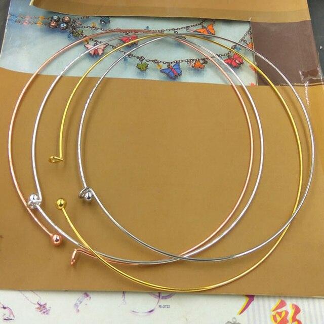 5 teile/los Rose Gold Silber Farbe Kupfer Runde Drehmomente Halskette für Frauen Breite 13 cm Drehmomente Fit Halsketten Schmuck Machen erkenntnisse