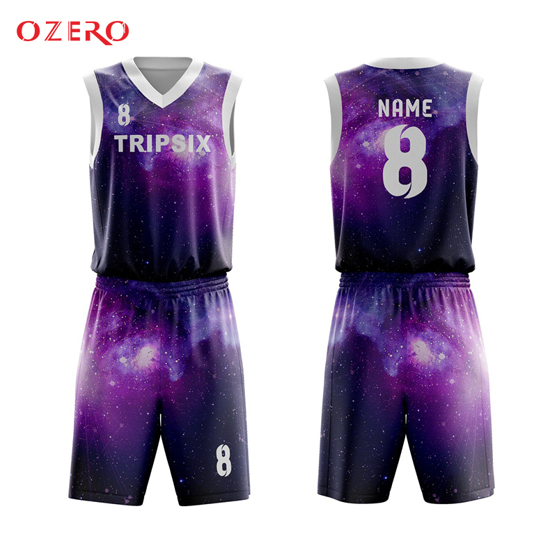 d3e29975fef 100%polyester top quality full sublimation custom basketball uniforms-in Basketball  Jerseys from Sports   Entertainment on Aliexpress.com