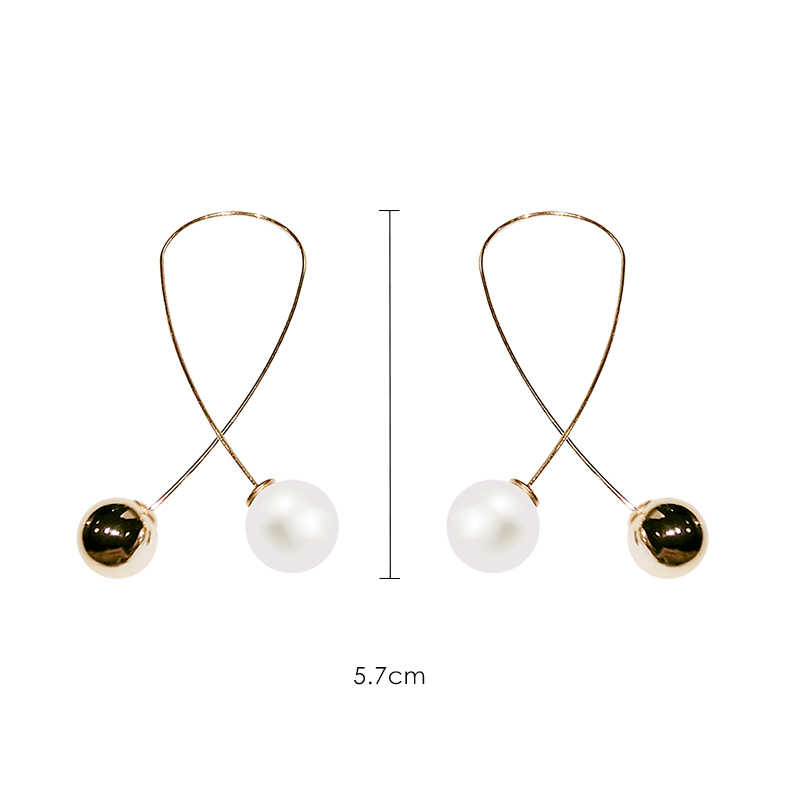 2019 New Exaggerated Simple line Big Drop Earrings for Women Double Round Circle Pendant Long Earrings Brincos  jewelry
