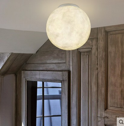Us 131 86 40 Off Modern Moon Planet Round Ball Pendant Light Planetary Universe Earth Lobbycreative Model Room Coffee Lamps In Ceiling