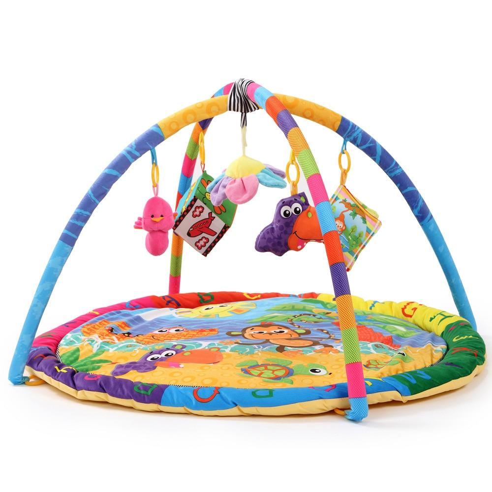 Fun plage singe dessin animé bébé jouet bébé jouer tapis intérieur bébé enfants jeu éducatif Gym couverture sport ramper tampons - 5
