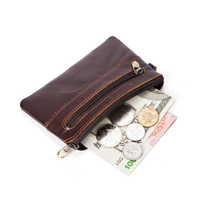 MACWAVE Coin Purse Cowhide Genuine Leather Coin Pouch Leather Wallets Small Slim Leather Change Holder