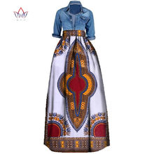 New African Print Summer Skirt for women Plus Size Dashiki African  Traditional Clothing Ball Gown Casual 3860ebaecc81