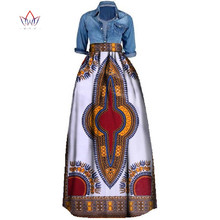 BintaRealWax Print Summer Skirt for women Plus Size Dashiki African Traditional