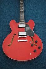 중국 기타 firehawk OEM 고품질 Custom Sunburst Semi Hollow TR335 재즈 기타, 레드 기타 무료 배송
