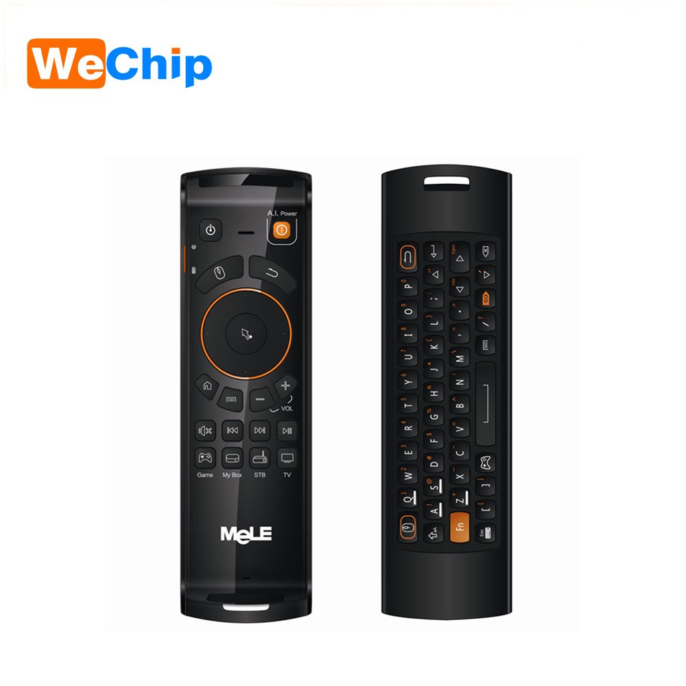 Mele F10 Deluxe Fly Air Mouse 2.4G MINI Wireless Keyboard G-sensor Remote Controls for A ...