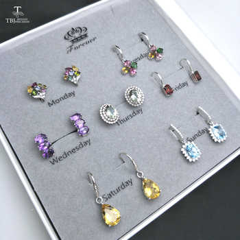 TBJ,2019 new setly Natural Gemstone 925 silver Jewelry earring Spree weekly subject Women wife  valentine's day big gift bag - DISCOUNT ITEM  8% OFF All Category