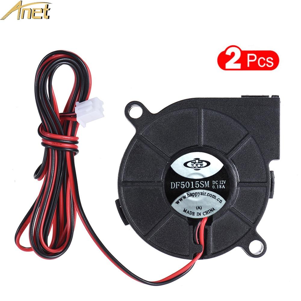 24V Blower Radial Cooling Fan RepRap 2 Pack 5015 Fan Hotend 3D Printer