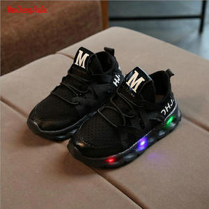 kids shoes with LED light boys