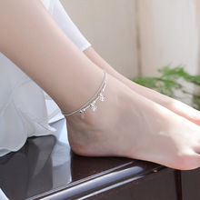 TJP Cute Clover Silver Bracelets For Women Jewelry Trendy Girl 925 Anklets Accessories Fashion Female Lady Chirstmas Gift