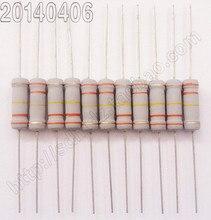 (20 шт./лот) Углеродные Пленочные Резисторы 2 Вт = 3 Вт 2.7 Европа 2.7R 5% точность сопротивление цвет кольцо