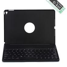O-kut (sin 7 colores de luz de fondo) para ipad air 2 ipad 6 moda retroiluminado teclado bluetooth inalámbrico de aluminio estuche protector