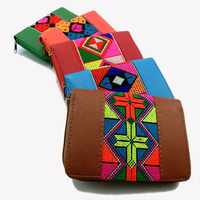 Vintage Hmong Thai Ethnic Wallet Purse Card Holder Bag Hobo Hippie Ethnic Hand Bag With Embroidery