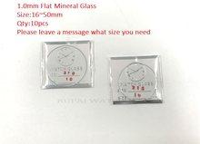 f4b5cb285c1 Frete Grátis 10 pc Plano Mineral Vidro De Relógio Cristal 1.0mm de  Espessura 16 ~ 50mm Tamanho