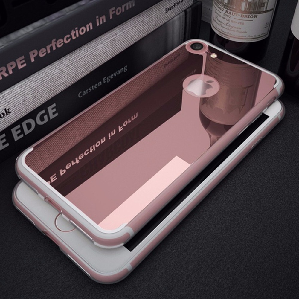 Luxury Clear Mirror Phone Case for iPhone 7 8 6 6S Plus
