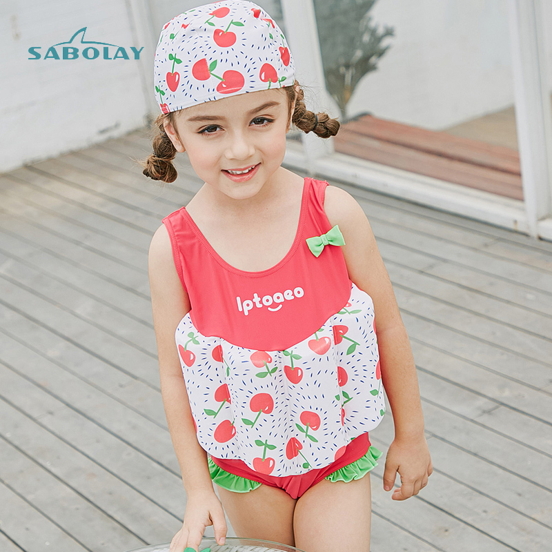 Easy To Put On Children Swimwear Grils Swimsuit Surfing Bathing Suit Rash Guard Comfortable Float Suit Learn To Swim More Safely