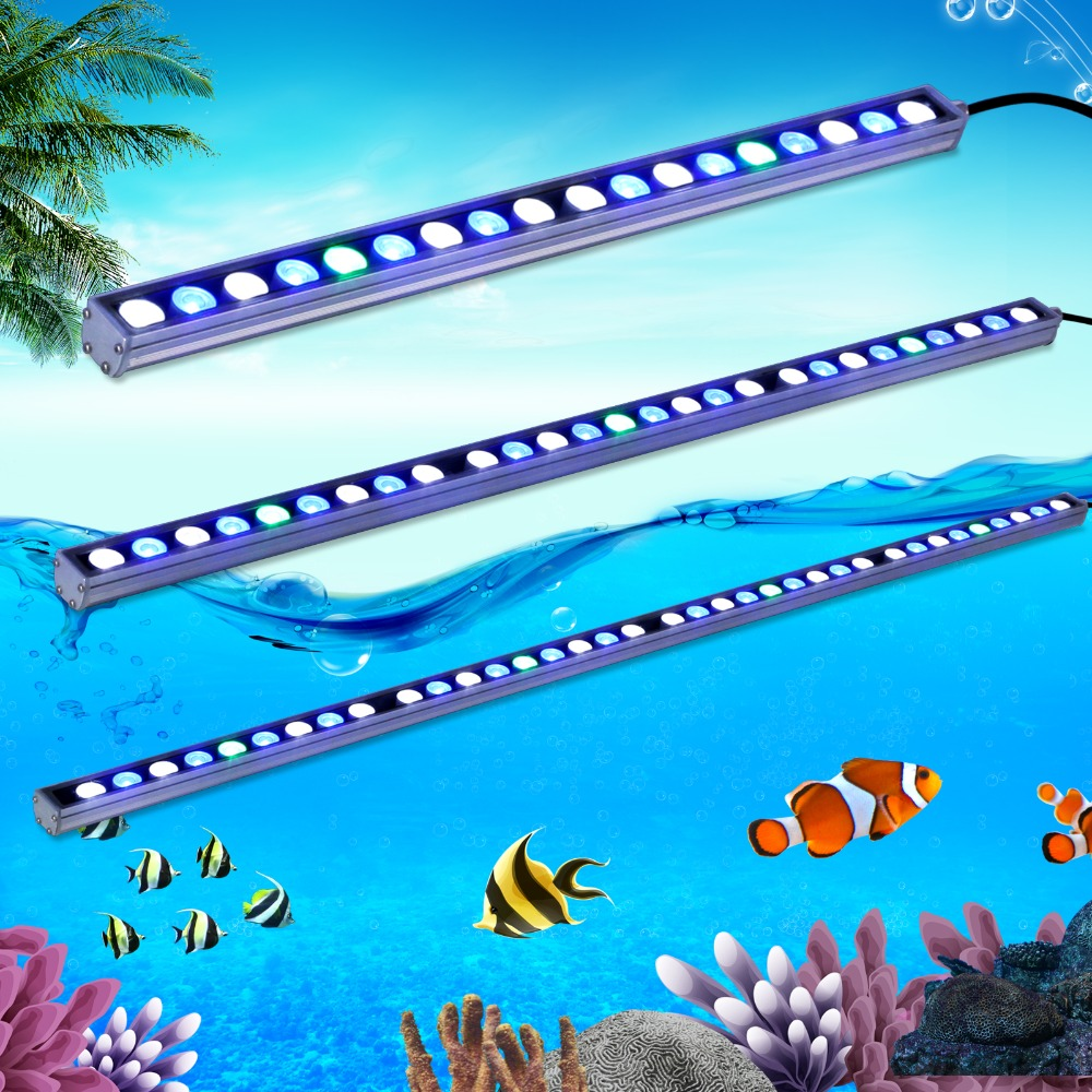 Fish tank lights for sale - 5pcs Lot Hot Sale 54w Waterproof Led Aquarium Light Bar Strip Lamp White Blue Uv